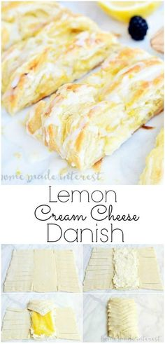 This flaky Lemon Cream Cheese Danish is an easy breakfast or brunch recipe made with puff pastry and filled with a creamy sweet and tart lemon filling Make this easy dani. Breakfast Pastries, Breakfast Recipes, Puff Pastries, Breakfast Cheese Danish, Danish Pastries, Easy Brunch Recipes, Breakfast Casserole, Breakfast Ideas, Danish Recipe Easy