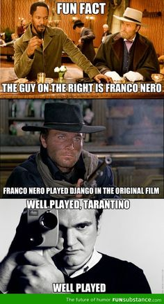 Django Unchained by Quentin Tarantino Tarantino Films, Quentin Tarantino, Funny Movies, Great Movies, Awesome Movies, Indie Movies, Johnny Depp, Weird Facts, Fun Facts