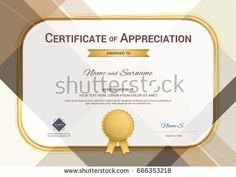 Portrait modern certificate of appreciation template with modern modern certificate of appreciation template with modern colorful pattern in vector illustration yadclub Image collections