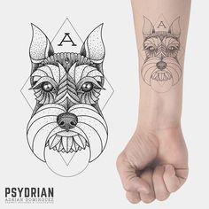 schnauzer tattoo - Google Search