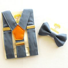 Toddlers and Boys Braces and Bow Tie Set. by TinaBartonDesigns