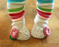 Instant Download  Crochet Pattern  Granny Square Booties