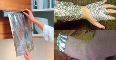 A pesar de ser una herramienta de cocina increíble que es útil para la preparación y la protección de los alimentos, el papel de aluminio ahora recibe una nueva dimensión: recientemente se ha demostrado que ayuda a tratar los diferentes tipos de dolor.  Por lo tanto, si usted sufre de dolores en el cuello, espalda inferior o superior, hombros o rodillas, o si experimenta un dolor desagradable en sus talones que no permite que usted se mueva correctamente,