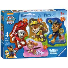 4 in a Box Paw Patrol Large Shaped Puzzles  £9.99
