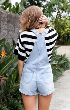 Denim and stripes.
