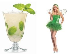 """Halloween Drink Recipe to Match Your Tinkerbell Costume: """"The Sexy Fairy"""" (http://www.surfandsunshine.com/halloween-drink-recipes/)"""