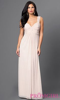 Long Empire Waist Ruched Bodice Prom Gown. Plus Size Formal ... ea9387185f48
