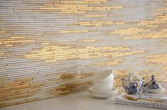 Reve, a handmade mosaic shown in 24K Gold Glass , Agate and Quartz jewel glass | The Aurora™ Collection by Sara Baldwin for New Ravenna