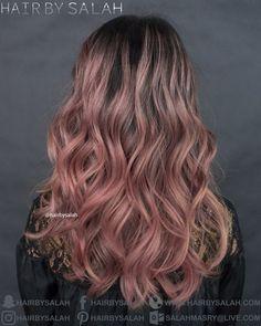 Rose 🌹 Blonde Hair Over Natural Base Color from Hair By Salah.  www.hairbysalah.com #hair #haircolor #haircolors #haircoloring #roseblonde #rosehair #balayage #balayageombre #newlook #fashion #hairfashion #hairstyles #hairstyle #hairbysalah #hairoftheday #newhaircolors #fashioncolors #beauty #beachwaves #makeup #pretty #dubai #saudiarabia