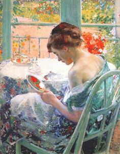 by Richard Emil Miller (1875-1943) American Impressionist Painter