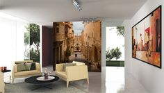 fototapeta w salonie Oversized Mirror, Flat Screen, Divider, Furniture, Home Decor, Art, Pictures, Photo Wallpaper, Wallpapers