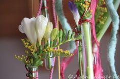 Frühlingsdeko für den Geburtstagstisch