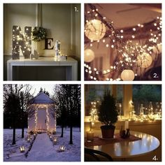Clever Ways to use Christmas Lights / created at: 12/04/2012