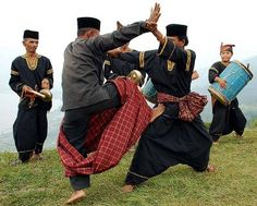 Pencak Silat, one discipline of martial arts that use music and rythm for the practice.