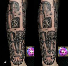 Insane Tattoos, 3d Tattoos, Body Art Tattoos, Tattoo Sleeve Designs, Tattoo Designs Men, Sleeve Tattoos, Cyborg Tattoo, Armor Tattoo, Future Tattoos
