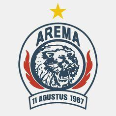 Arema Indonesia Logo silver blue