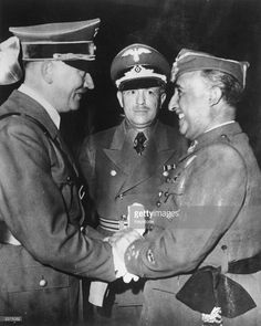 Francisco Franco (1892 - 1975) Spanish general and dictator who governed Spain from 1939 to 1975 greeting Adolf Hitler, Nazi German dictator (1889 - 1945). The two men met only once, in Hendaye near the Spanish border.