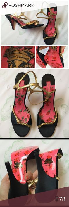 Betsey Johnson elegant heel sandals Excellent used condition.  No Trades   No Holds  No Price Comments  Yes Offers  Smoke Free Home  Next Day Shipping ❤️ Like for Updates  Namaste  Betsey Johnson Shoes Heels