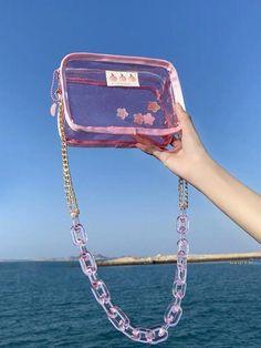 Cute Handbags, Purses And Handbags, Aesthetic Bags, Best Designer Bags, Clear Bags, Purple Bags, Mode Streetwear, Cute Purses, Everyday Items