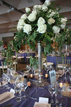 A stunning wedding at Zinc Federation Square using navy linen and amazing stand out floral centerpieces  #wedding #decoration #floral #styling #melbourne #floralstyling #floral #flowers #flowerstyling #floraldesign #floraldecor #decoritevents #floralcenterpieces #flowerdecorations  #melbourneevents #floralcenterpiecesmelbourne www.decorit.com.au (35)