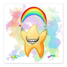 """""""You're a Star - Rainbow Explosion - by Denis Caron - 8x8 Print"""" HehehahAHAHA YOU'RE A STAR, KID! >:D - In Unconscious Ink Tags Star, Creepy, Creepy Pasta, Rainbow, S, Smile, Teeth, Anthropomorphic, Commission"""