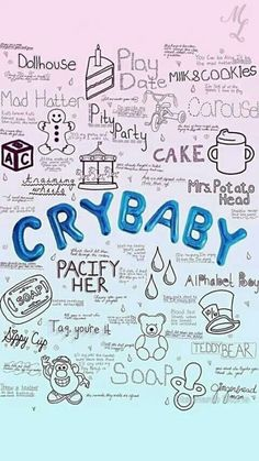 melanie martinez, cry baby, and wallpaper image Melanie Martinez Tumblr, Crybaby Melanie Martinez, Melanie Martinez Mad Hatter, Melanie Martinez Drawings, Pity Party, Halsey, Cry Baby, Aesthetic Iphone Wallpaper, Aesthetic Wallpapers