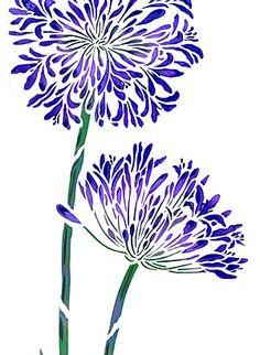 stencil flowers - Pesquisa Google