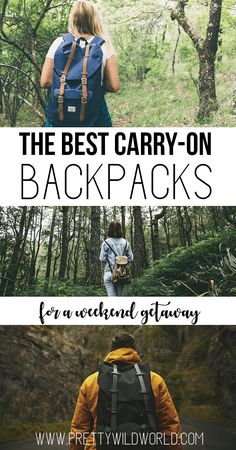 Want to know what's the best carry on backpack for a weekend getaway you can get your hands on? Each one guarantee comfort and a good travel companion. Carry On Bag Essentials, Travel Essentials, Travel Tips, Travel Hacks, Travel Packing, Travel Destinations, Travel Necessities, Packing Lists, Travel Advice