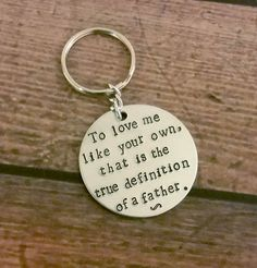 Fathers Day/Step Father Hand Stamped Key by SimplyCharmedStampin