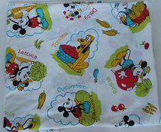 Vintage Disney Fabric Sheet Mickey Pluto Donald Pinocchio Pig Vegetables Garden   eBay #vintage #vintagedisney #disneyana #disneyfabric #fabric #vintagesheet #pluto #donaldduck #mickeymouse #minniemouse #pinocchio
