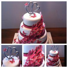 Butterfly wedding cake / Schmetterlings-Hochzeitstorte