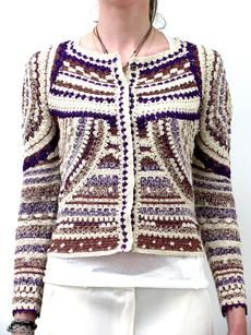 'Weston' Lurex & Crochet Sweater