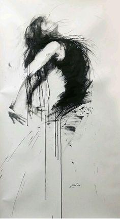 Tattoo sketches 528750812483013572 - ewa hauton ink on paper Source by Portrait Au Crayon, Pencil Portrait, Portrait Art, Art Sketches, Art Drawings, Drawing Art, Drawing Ideas, Abstract Sketches, Drawing Portraits