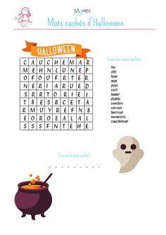 Mots cachés d'Halloween 2 à imprimer Theme Halloween, Halloween Tags, Halloween 2019, Halloween Crafts, Halloween Decorations, Halloween Costumes, Bricolage Halloween, Origami, Infant Activities