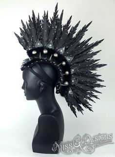Faux Feather Mohawk with Spikes by MissGdesigns on DeviantArt