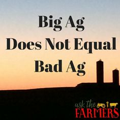 Big Ag Does Not Equa
