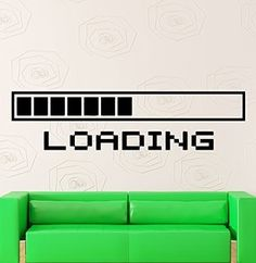 Crystal Emotion Wall Stickers Vinyl Decal Funny Computers Loading Pc Gamer Video Game Best Decoration For Room