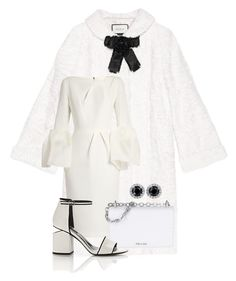 """""""White Gucci Coat! ~ Contest"""" by flippintickledinc ❤ liked on Polyvore featuring Gucci, Roksanda, Prada and Alexander Wang"""