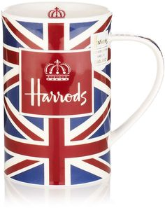 Harrods: Crowing Glory Mug- My husband brought me mugs when he traveled to London. Union Jack Decor, Brighton, Union Flags, British Things, Luxury Gifts, Mug Cup, Harrods, London England, Tea Pots