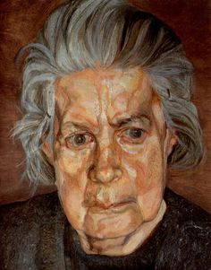 The Painter's Mother II, oil, 14 x 17.8cm, Lucian Freud 1972 (93) private collection