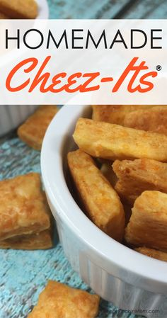 Kids Snack Ideas:  Copycat Cheez-its    Snacks | Copycat recipes | easy homemade recipes | snacks for kids
