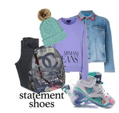 """Nike Air Jordan Statement Shoes"" by velvy on Polyvore featuring Acne Studios, M.i.h Jeans, Armani Jeans and Chanel"