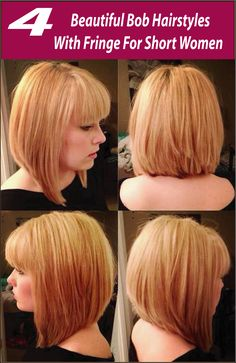 When It comes to Bob hairstyles, you must try some different style for it. Most of the celebs are styling Bob Hairstyles With Fringe, and they love it for long.