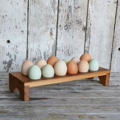 Aldermere Egg Tray made from reclaimed antique Cypress by Peg and Awl