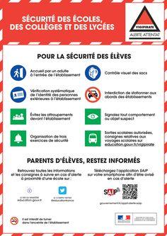 Consignes de sécurité dans les établissements dépendant du ministère en Ile de France et Alpes maritimes