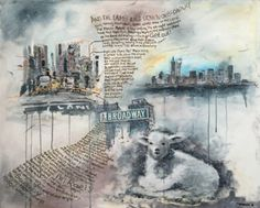Genesis, Soundtrack of my Life: The Lamb lies down on Broadway Acrylic Painting on Canvas.  Vernissage 1. Okt. 2016 The Art-Exhibition--> www.Fuggerschlosskonzerte.com #progtoberfest #allgäu #genesisband #mikerutherford #progrock #petergabriel #philcollins #tonybanks #acrylicpainting #acryloncanvas #music #soundtrack #canvas #canvasart #fugger #mindelheim #kirchheim #unterallgäu #boesner #tlldob