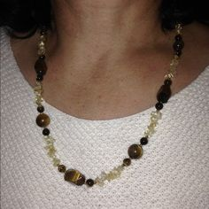 Tiger eye necklace Beautiful necklace Jewelry Necklaces
