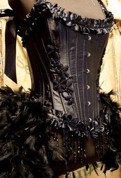 TWILIGHT- Burlesque Costume Corset Black Swan dress for Halloween. $170.00, via Etsy.