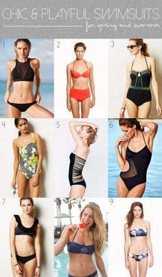 Chic & Playful Swimsuits for Spring and Summer // thoughtsbynatalie.com