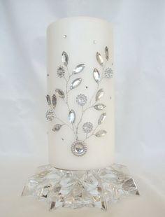 lovely embellished candle